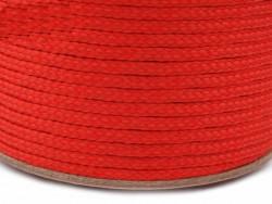 Sznurek poliestrowy 5mm czerwony 100m