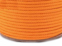 Sznurek poliestrowy 5mm pomarańczowy 100m