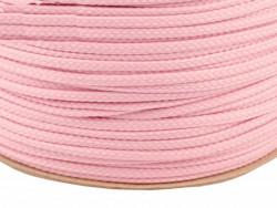 Sznurek poliestrowy 5mm różowy jasny 100m