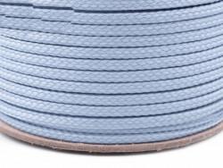 Sznurek poliestrowy 5mm błękitny 100m