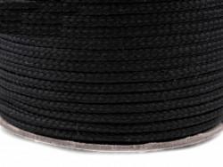 Sznurek poliestrowy 5mm czarny 100m