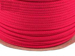 Sznurek poliestrowy 5mm różowy malinowy 100m