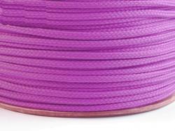 Sznurek poliestrowy 5mm fioletowy jasny 100m