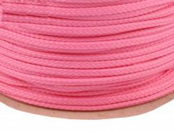 Sznurek poliestrowy 5mm różowy brudny 100m