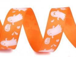 Tasiemka rypsowa 25mm duchy pomarańczowe