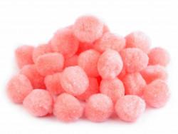 Pomponiki różowe ciepłe 15mm - 20szt