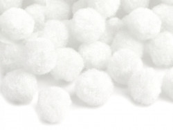 Pompony 20mm białe