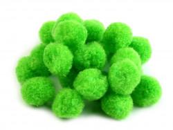 Pompony zielone 20mm - 10szt