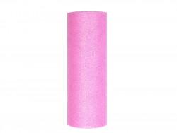 Tiul z brokatem różowy jasny 15x25cm