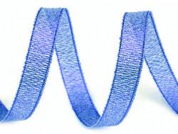 Tasiemka brokatowa 6mm niebieska
