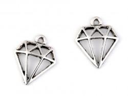 Zawieszka metalowa diament