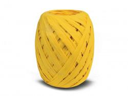 RAFIA papierowa płaska 30m żółta