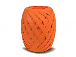 RAFIA papierowa płaska 30m pomarańczowa
