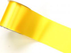 Wstążka satynowa 100mm cytrynowa rolka 50m