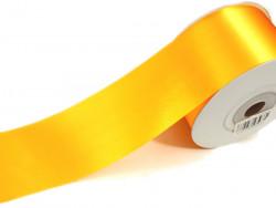 Wstążka satynowa 100mm żółta rolka 50m
