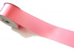 Wstążka satynowa 100mm różowa rolka 50m