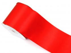 Wstążka satynowa 100mm czerwona rolka 50m