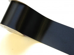 Wstążka satynowa 100mm czarna rolka 50m