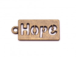 Zawieszka metalowa HOPE nadzieja