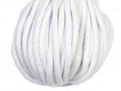 Sznurek bawełniany 5mm biały