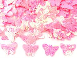 Cekiny motylki różowe zimne