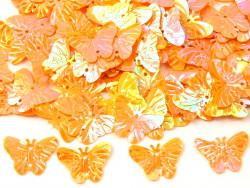 Cekiny motylki pomarańczowe