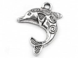 Zawieszka metalowa delfin