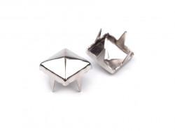 Ćwieki piramidki 5mm srebrne