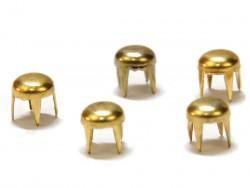 Ćwieki kropki 4,5mm złote