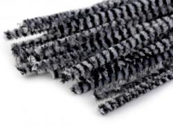 Druty kreatywne w paski białe-czarne10szt