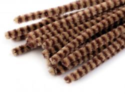 Druty kreatywne w paski beżowe-brązowe 10szt