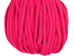 Sznurek bawełniany 5mm amarantowy różowy