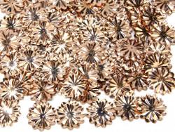 Cekiny kwiatki 22mm promienie beżowe