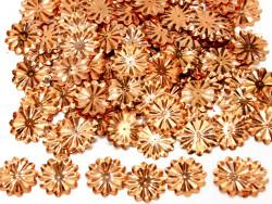 Cekiny kwiatki 22mm promienie złoty brąz