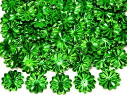 Cekiny kwiatki 22mm promienie zielone