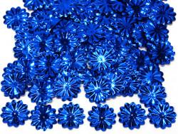 Cekiny kwiatki 22mm promienie chabrowe niebieskie