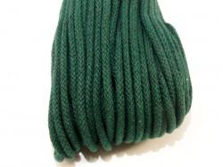 Sznurek bawełniany 5mm zielony szmaragdowy