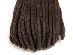 Sznurek bawełniany 5mm brązowy