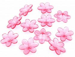 Kwiatki akrylowe 26mm różowe