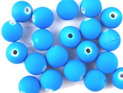 Koraliki neonowe 11mm niebieskie 20szt