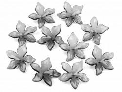 Kwiatki akrylowe 29mm szare