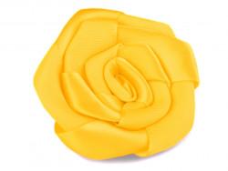 Róża satynowa 50mm żółta
