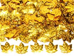 Cekiny liście złote