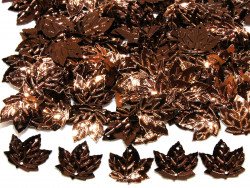 Cekiny liście 21x23mm brązowe