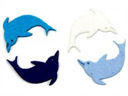 Aplikacja delfin z filcu