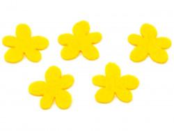 Aplikacja kwiatek obły z filcu