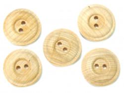Drewniane guziki - oponka, 25mm