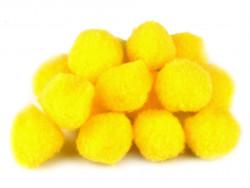 Pompony żółte 25mm - 10szt