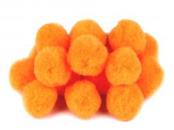 Pompony pomarańczowe 25mm - 10szt