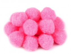 Pompony różowe 25mm - 10szt